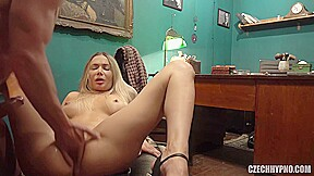 Czech Blonde Was Wearing A Floral Dress Before She Got Fingered And Fucked In The Ass